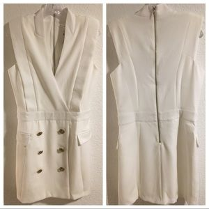 Endless Rose White Tuxedo Dress